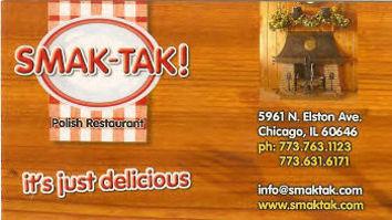 Smak-Tak Restaurant business card